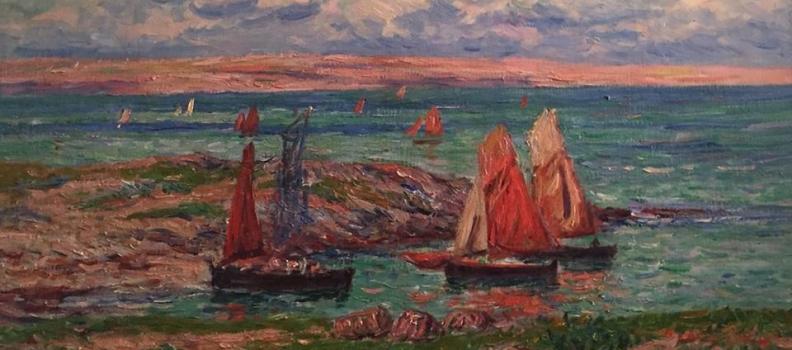 Huile et lumière sur toile, une peinture de Henry Moret sur EmmanuelLayan.com